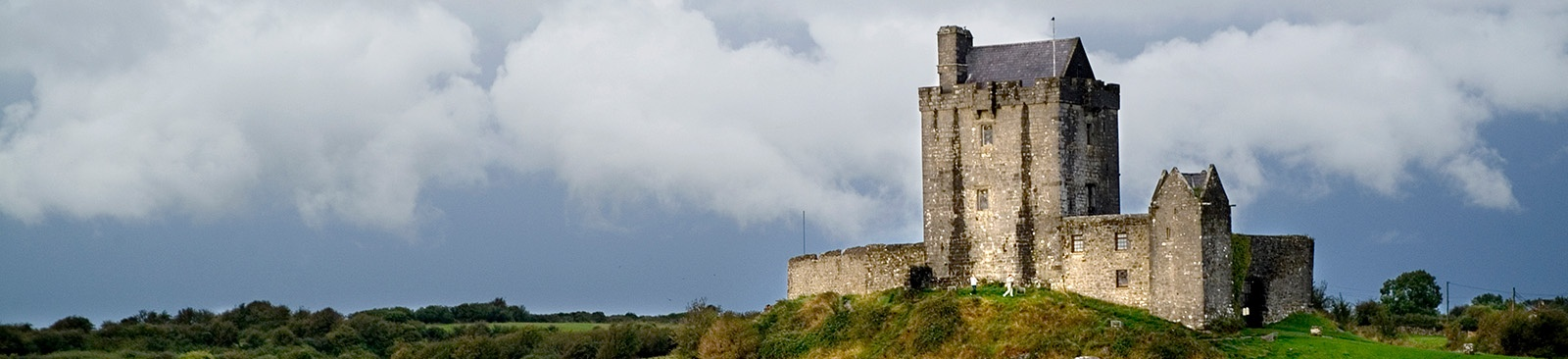 Castle on a grassy knoll