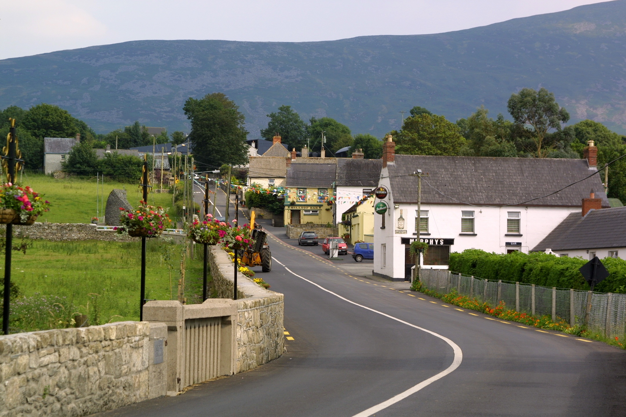 countryside street and houses